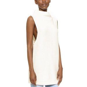 Free people ottoman sleeveless oversized sweater